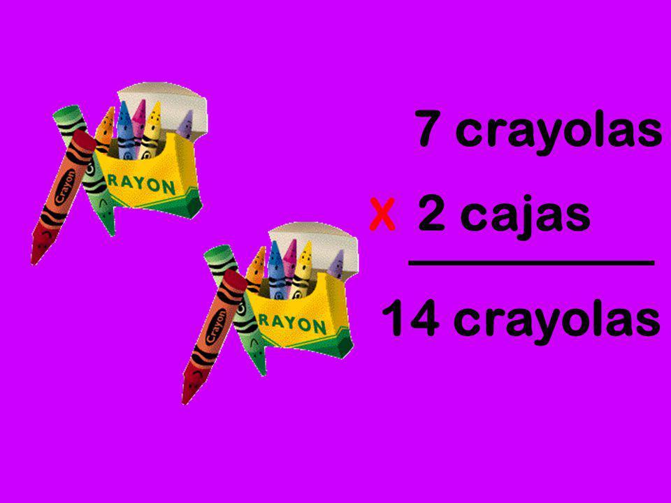 7 crayolas 2 cajas X 14 crayolas