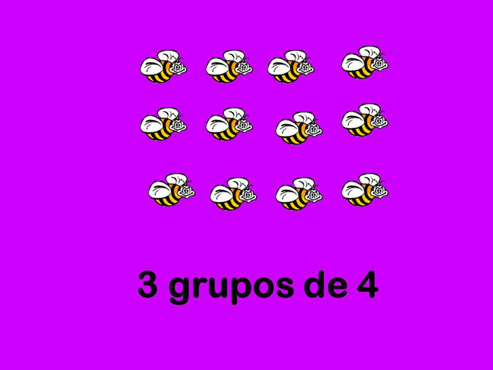 3 grupos de 4
