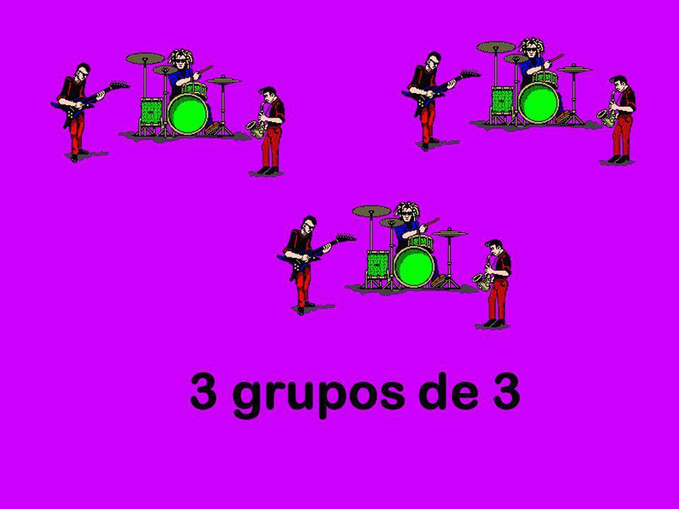 3 grupos de 3