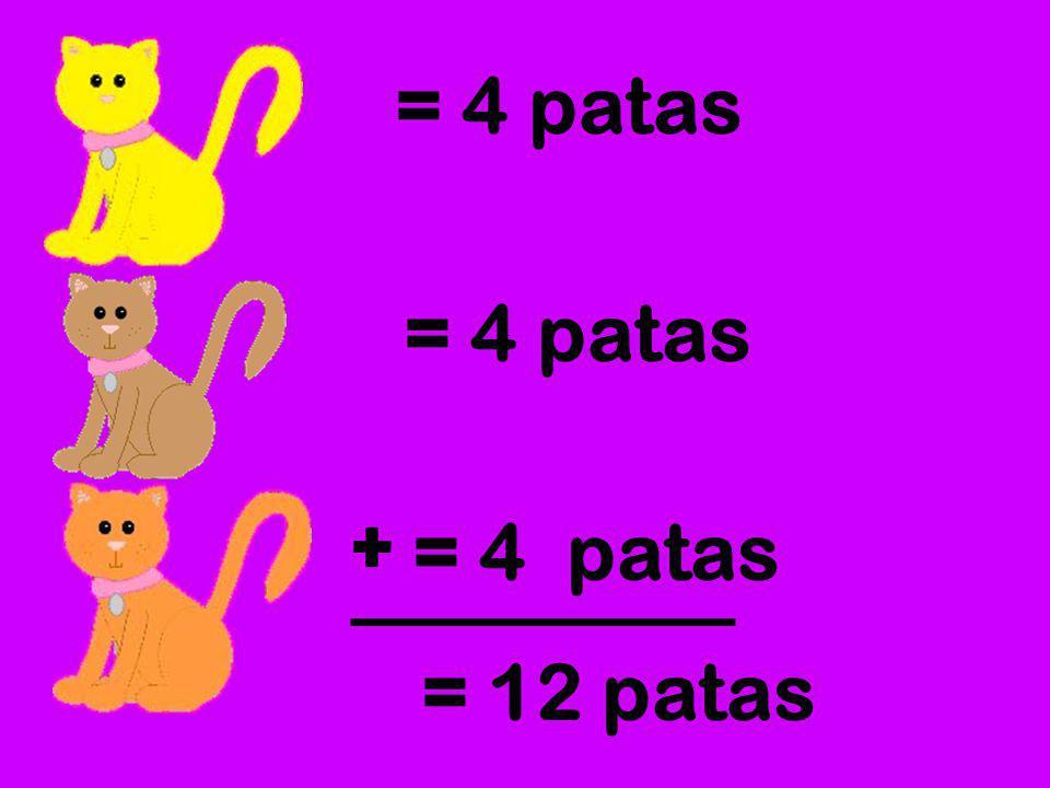 = 4 patas = 4 patas + = 4 patas = 12 patas