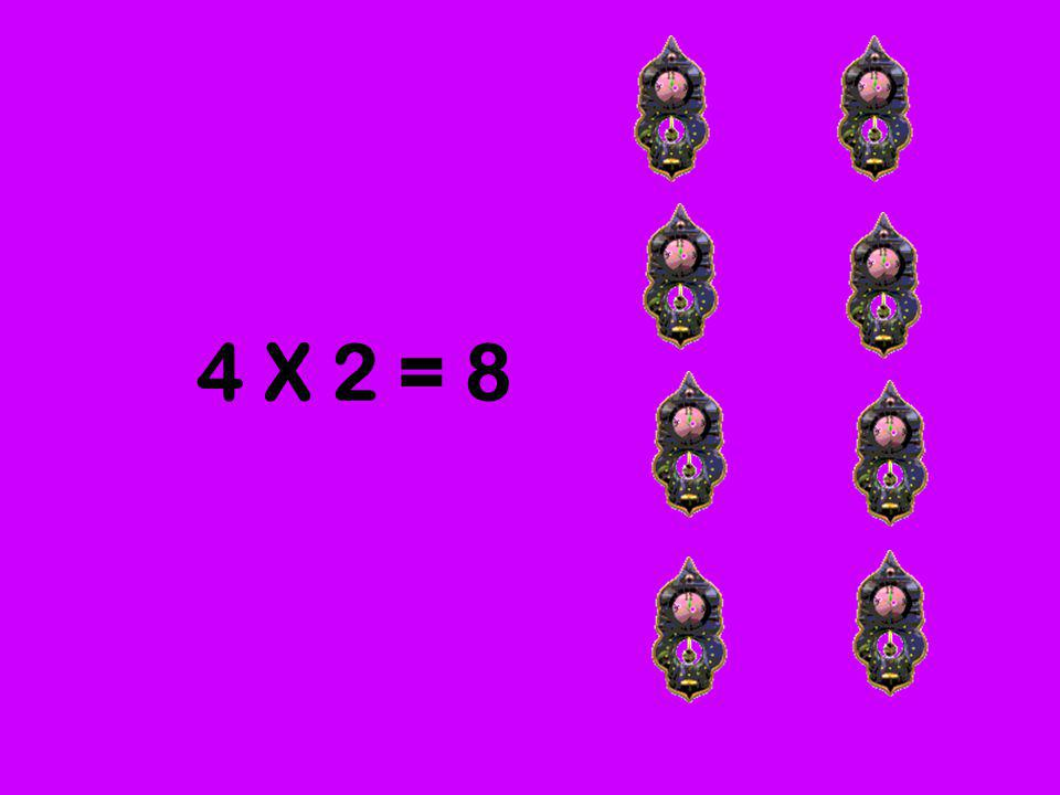 4 X 2 = 8
