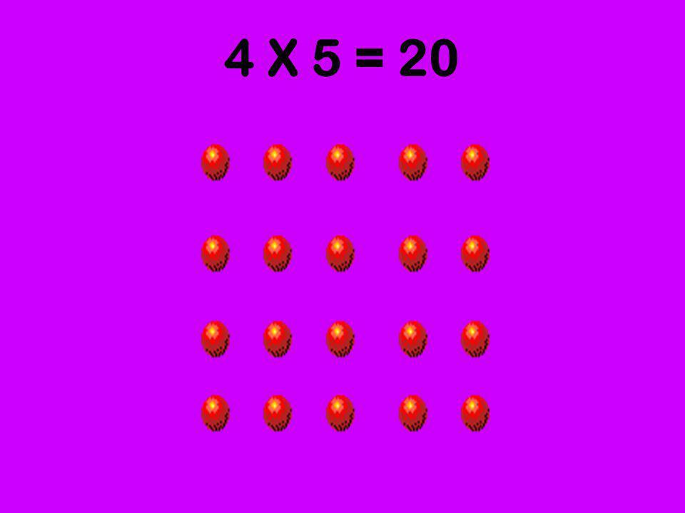 4 X 5 = 20