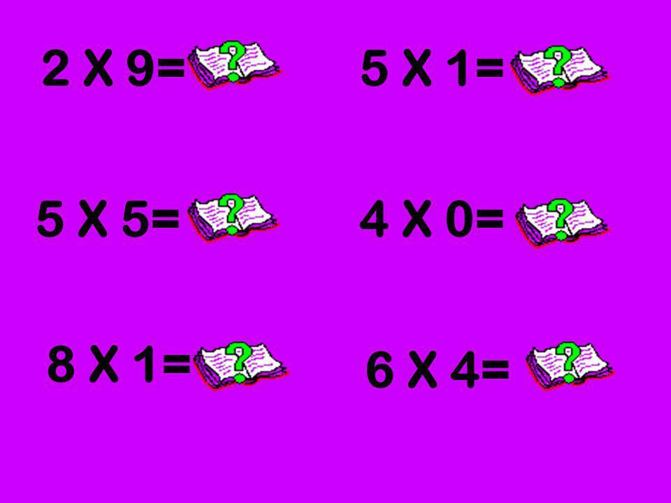 2 X 9= 5 X 1= 5 X 5= 4 X 0= 8 X 1= 6 X 4=