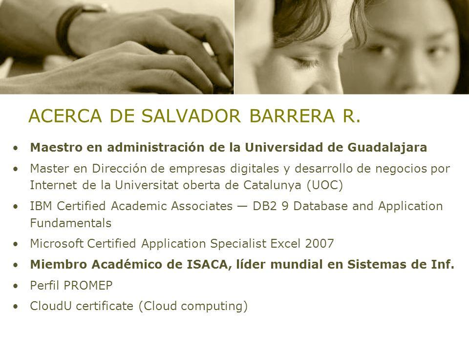 ACERCA DE SALVADOR BARRERA R.