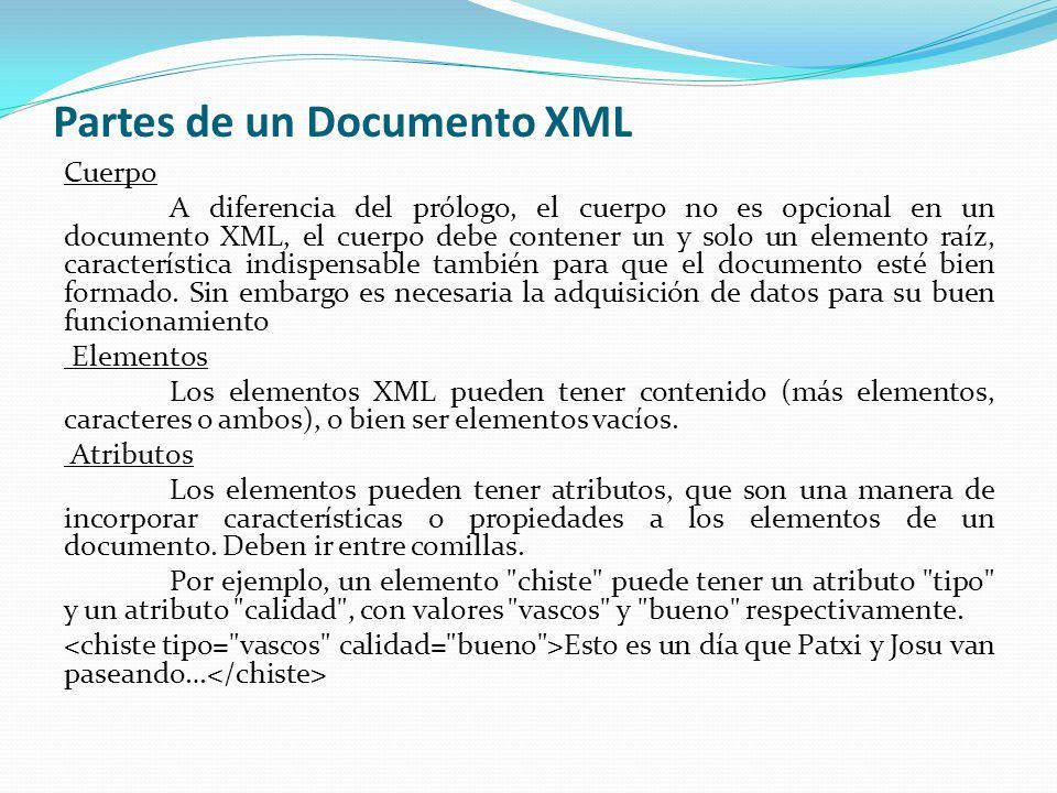 Partes de un Documento XML
