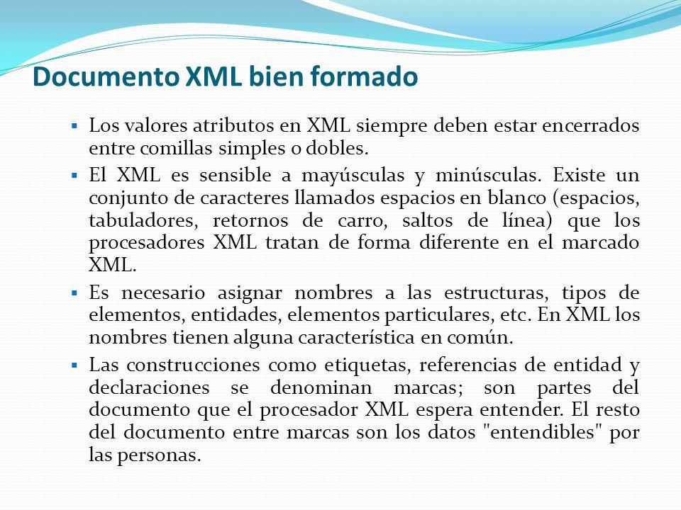 Documento XML bien formado