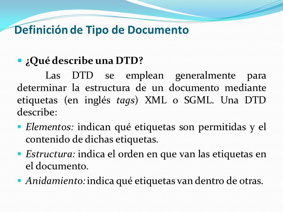 Definición de Tipo de Documento