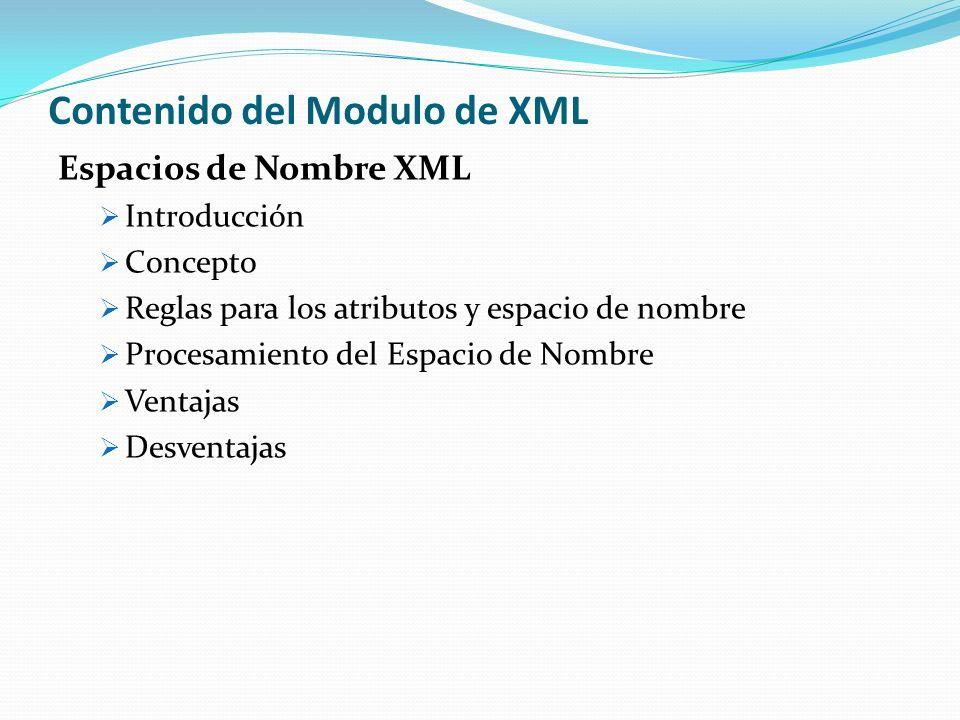 Contenido del Modulo de XML