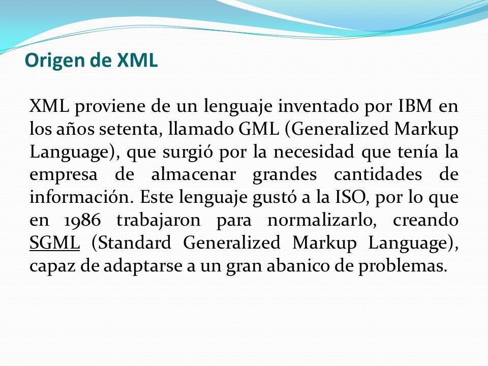 Origen de XML