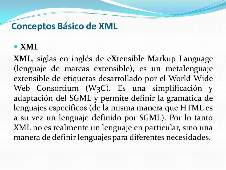 Conceptos Básico de XML