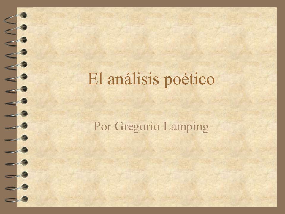 El análisis poético Por Gregorio Lamping