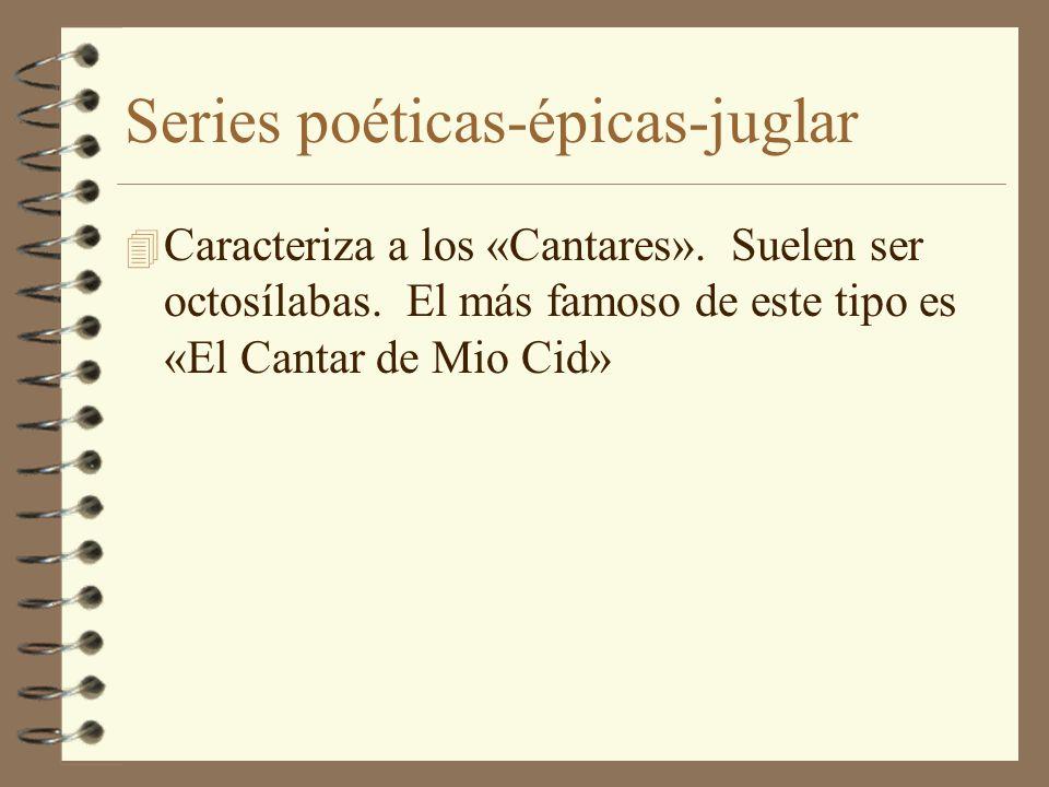 Series poéticas-épicas-juglar