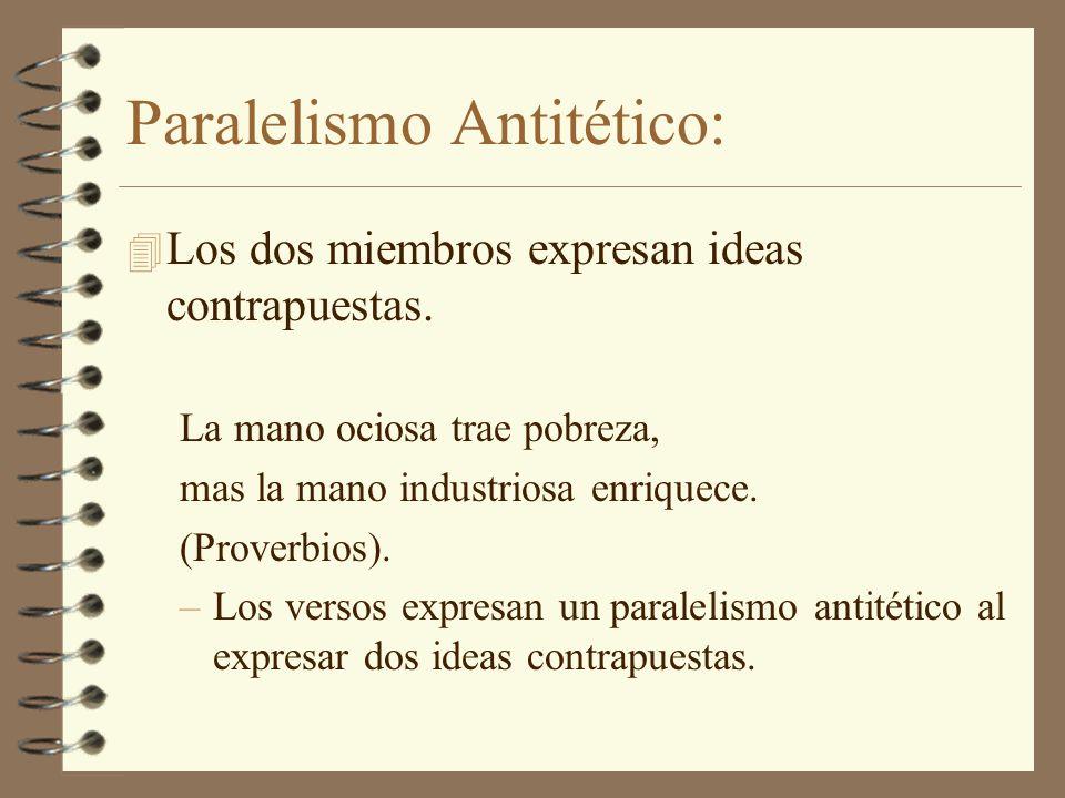 Paralelismo Antitético: