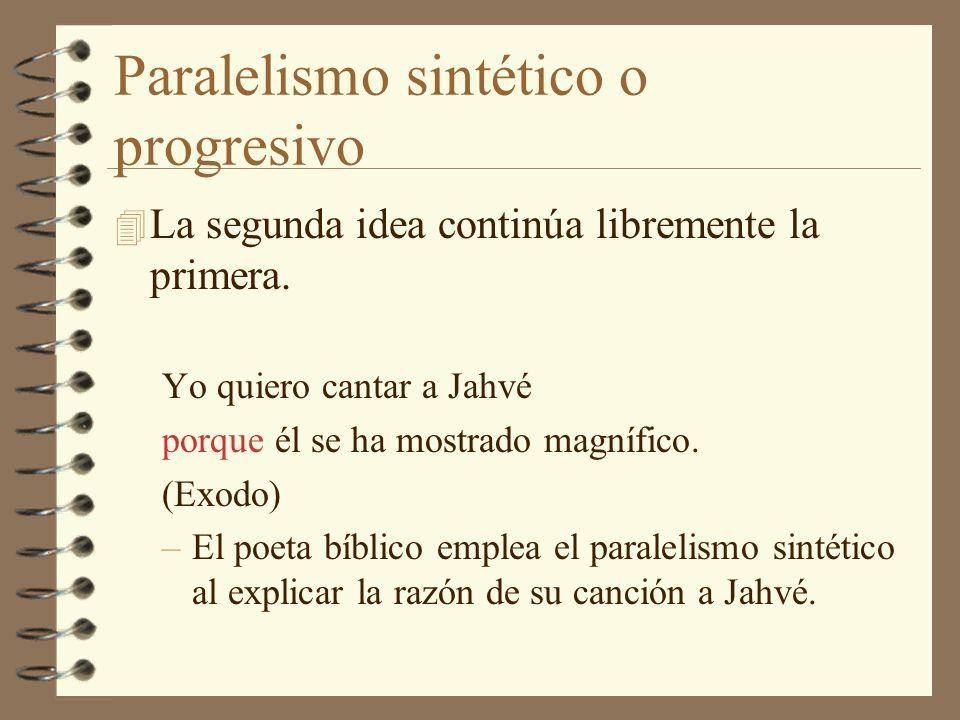 Paralelismo sintético o progresivo