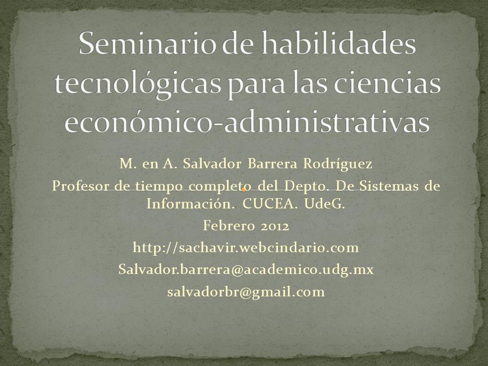 M. en A. Salvador Barrera Rodríguez