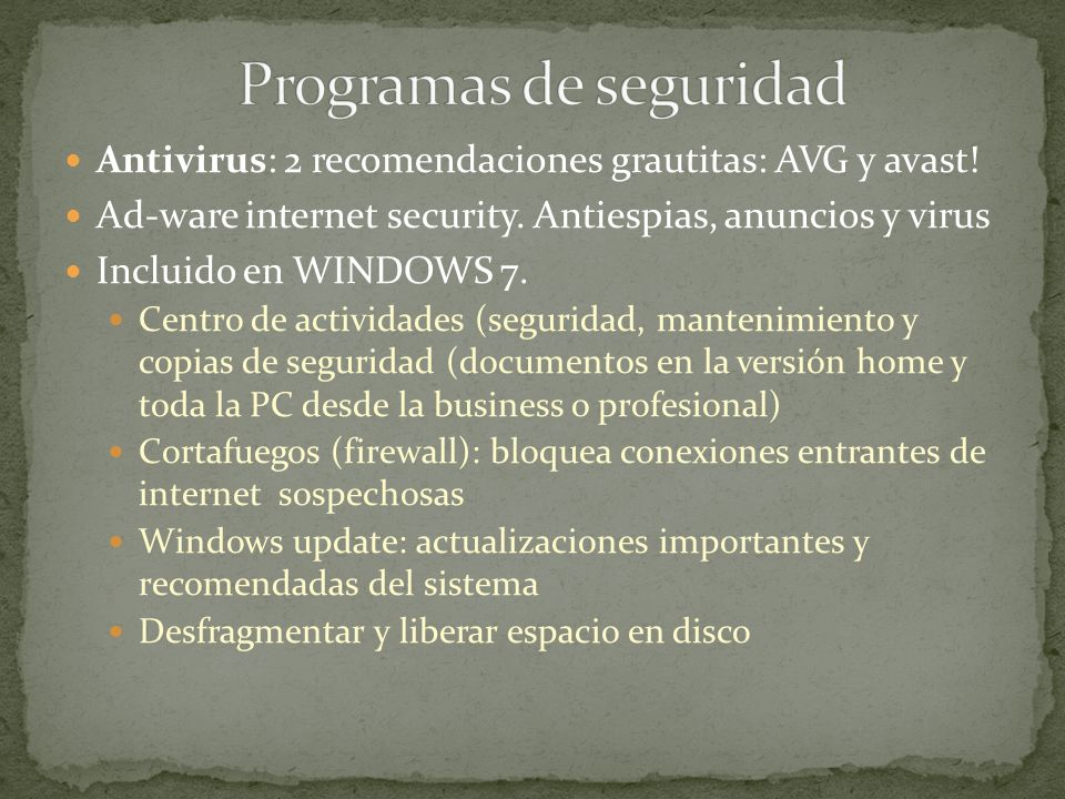 Programas de seguridad