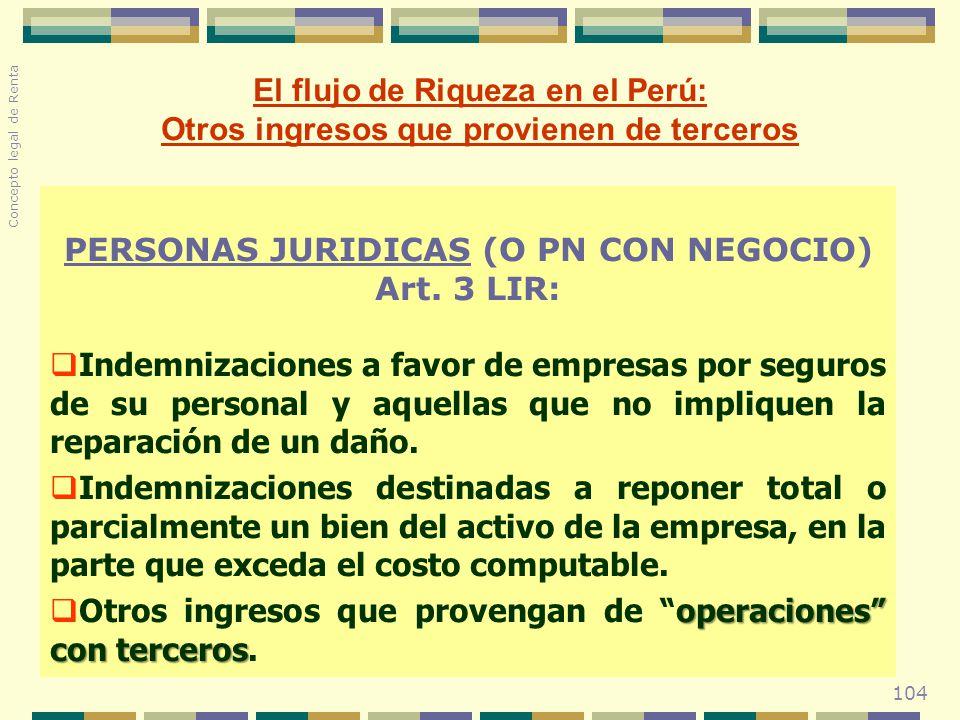 El flujo de Riqueza en el Perú: