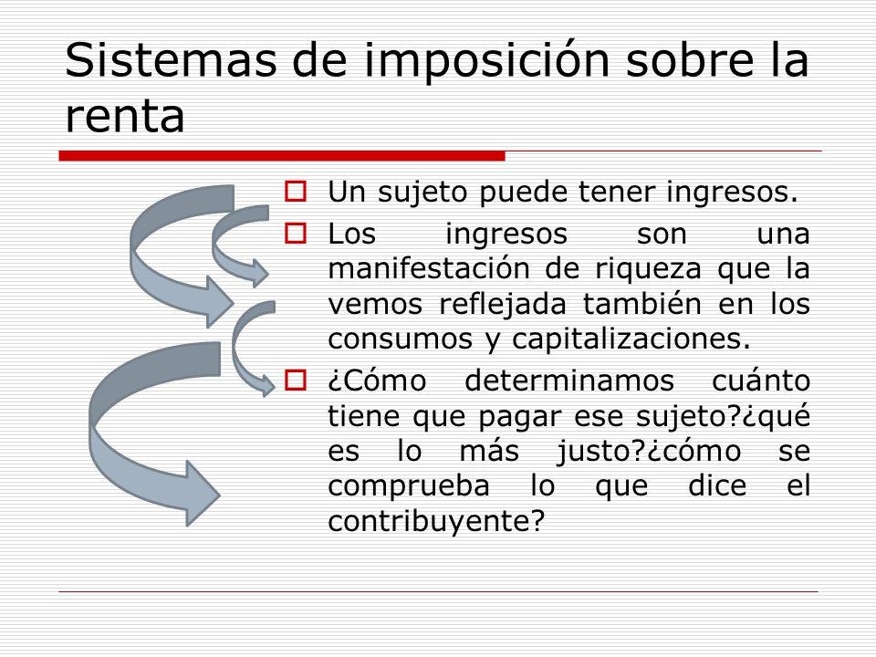 Sistemas de imposición sobre la renta
