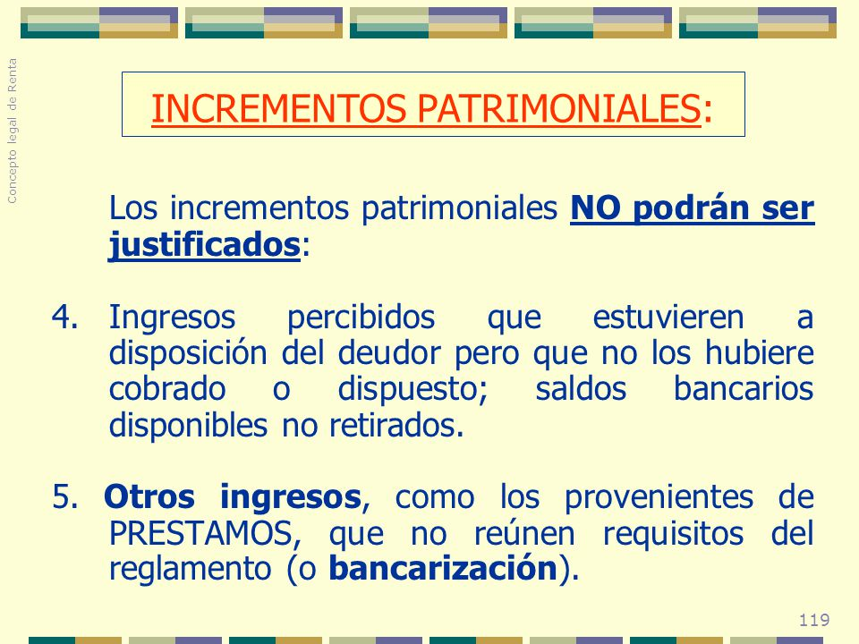 INCREMENTOS PATRIMONIALES: