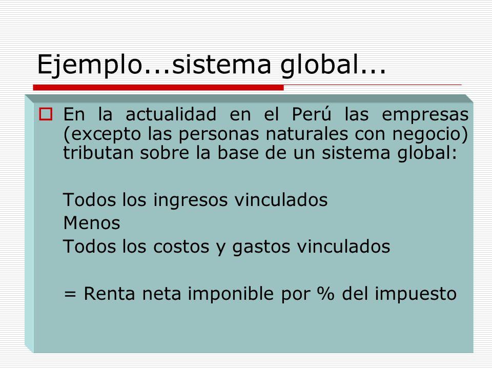 Ejemplo...sistema global...