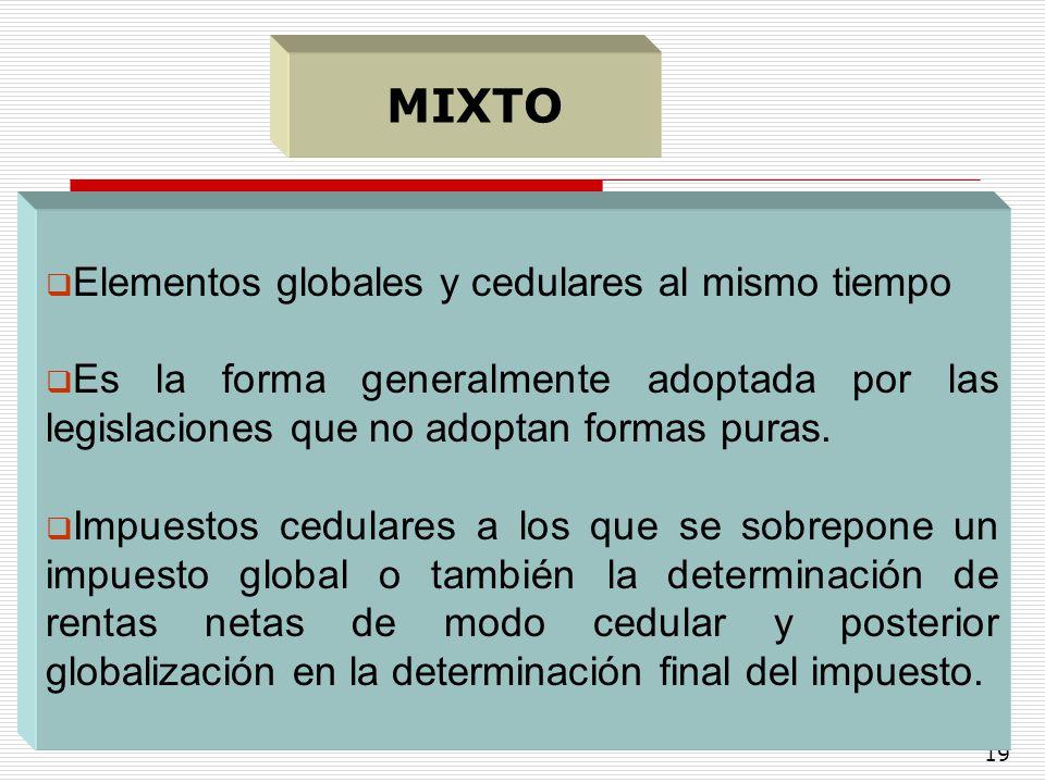 MIXTO Elementos globales y cedulares al mismo tiempo