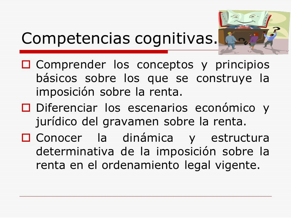 Competencias cognitivas.