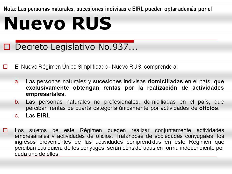 Decreto Legislativo No.937...