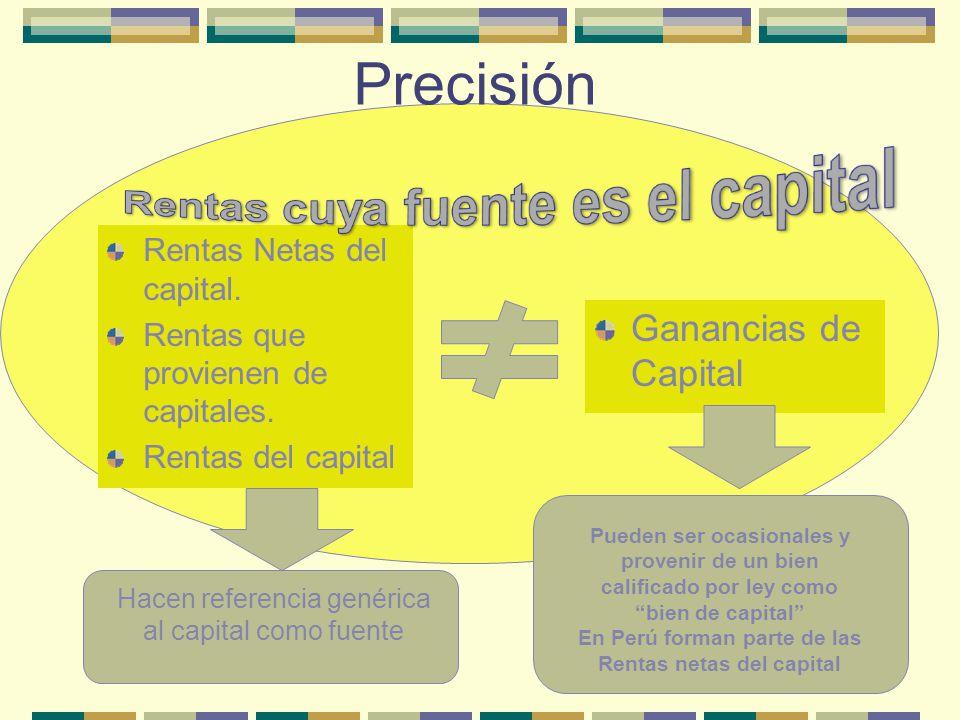Rentas cuya fuente es el capital