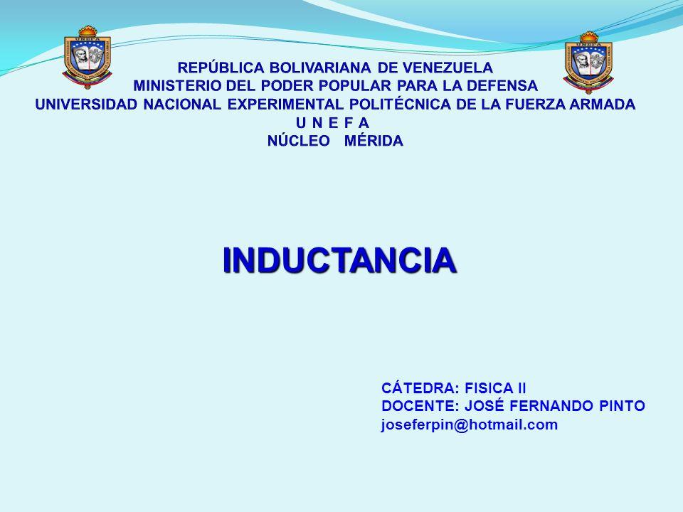REPÚBLICA BOLIVARIANA DE VENEZUELA MINISTERIO DEL PODER POPULAR PARA LA DEFENSA UNIVERSIDAD NACIONAL EXPERIMENTAL POLITÉCNICA DE LA FUERZA ARMADA UNEFA NÚCLEO MÉRIDA