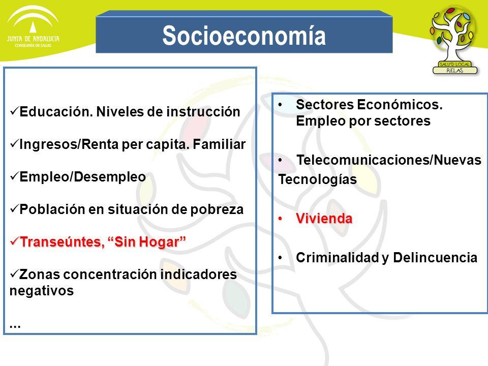 Socioeconomía Educación. Niveles de instrucción