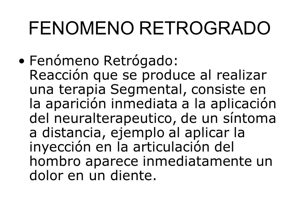 FENOMENO RETROGRADO