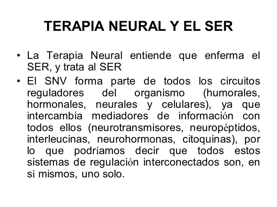 TERAPIA NEURAL Y EL SER La Terapia Neural entiende que enferma el SER, y trata al SER.