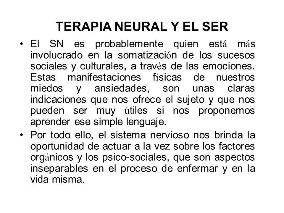 TERAPIA NEURAL Y EL SER