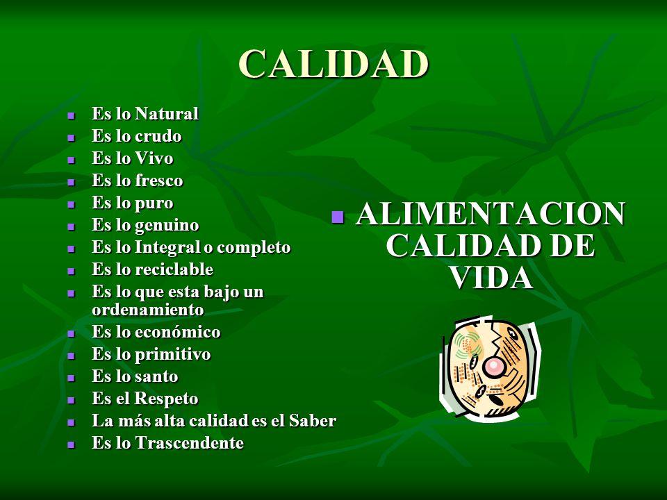 ALIMENTACION CALIDAD DE VIDA