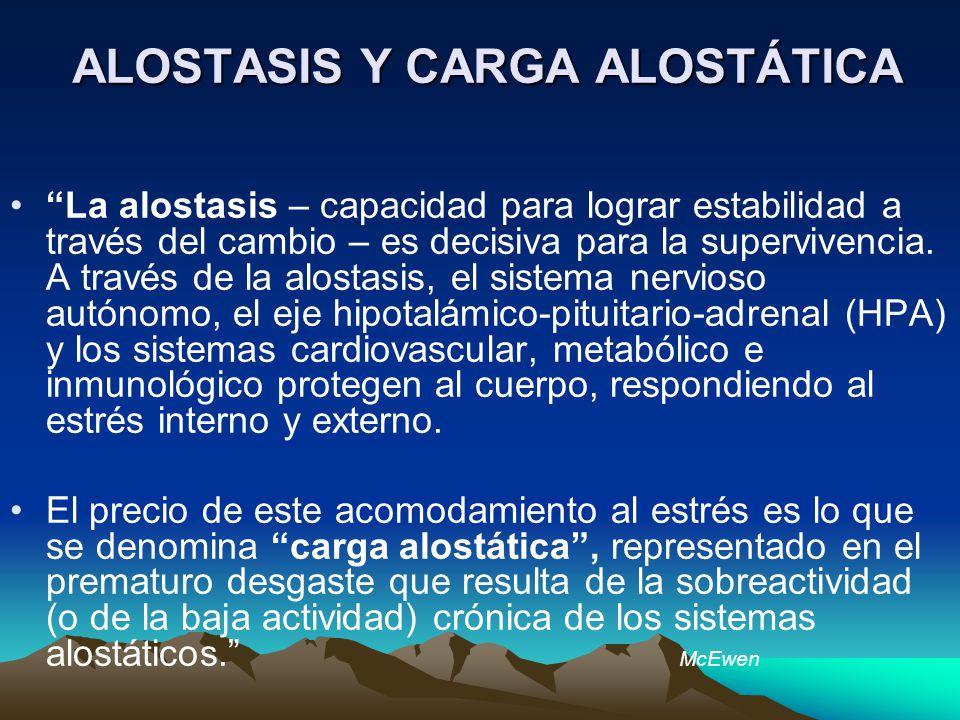 ALOSTASIS Y CARGA ALOSTÁTICA
