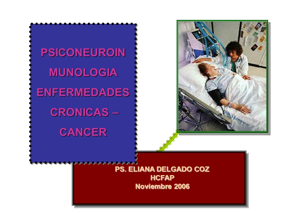 PSICONEUROIN MUNOLOGIA ENFERMEDADES CRONICAS – CANCER