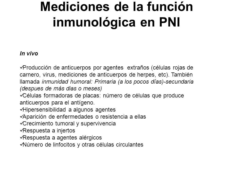 Mediciones de la función inmunológica en PNI