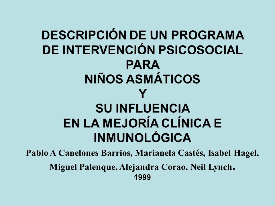 DESCRIPCIÓN DE UN PROGRAMA DE INTERVENCIÓN PSICOSOCIAL PARA
