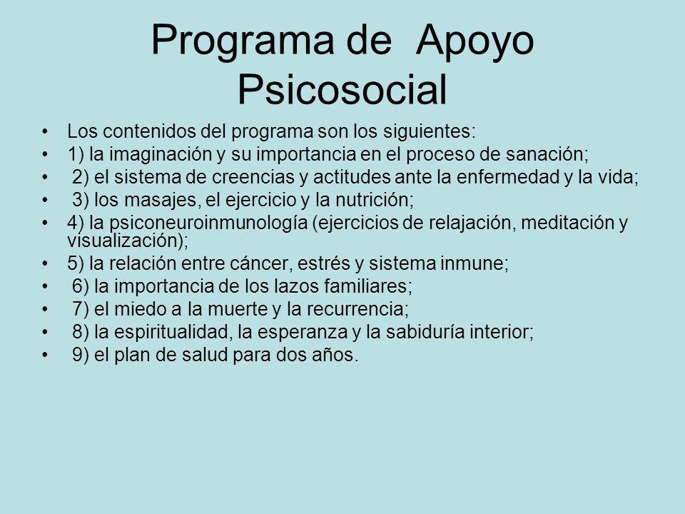 Programa de Apoyo Psicosocial