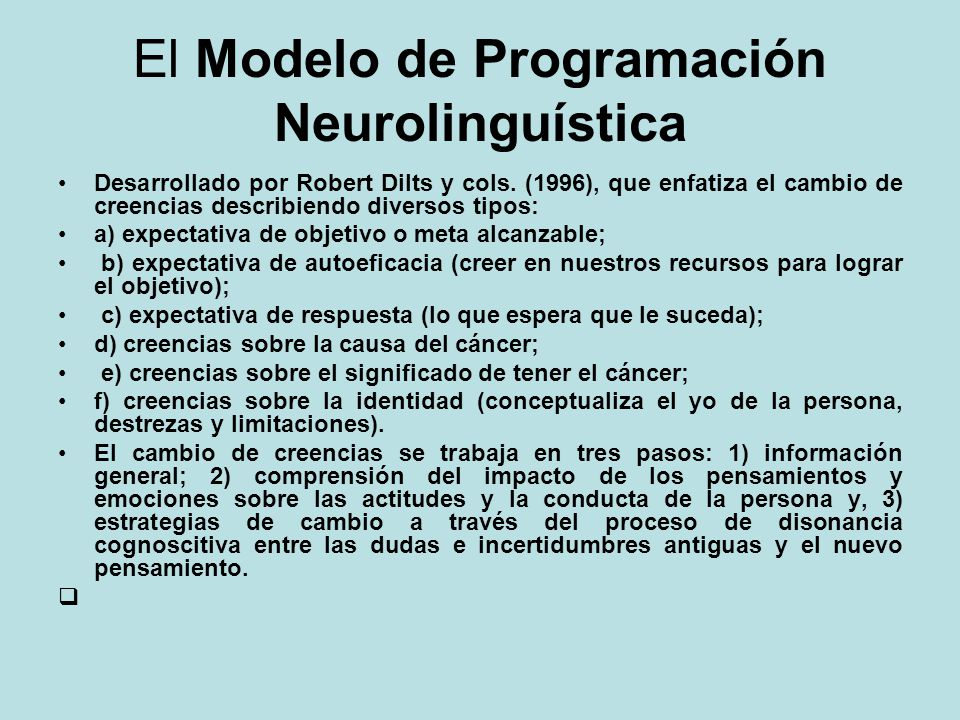 El Modelo de Programación Neurolinguística