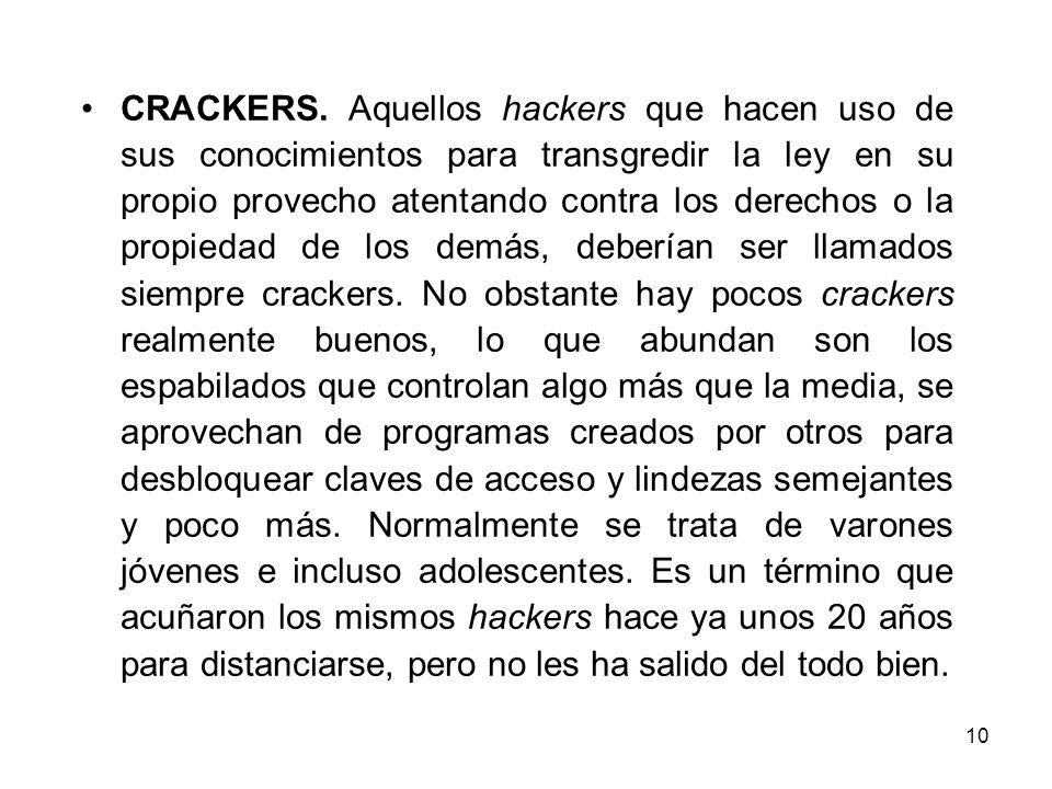CRACKERS.