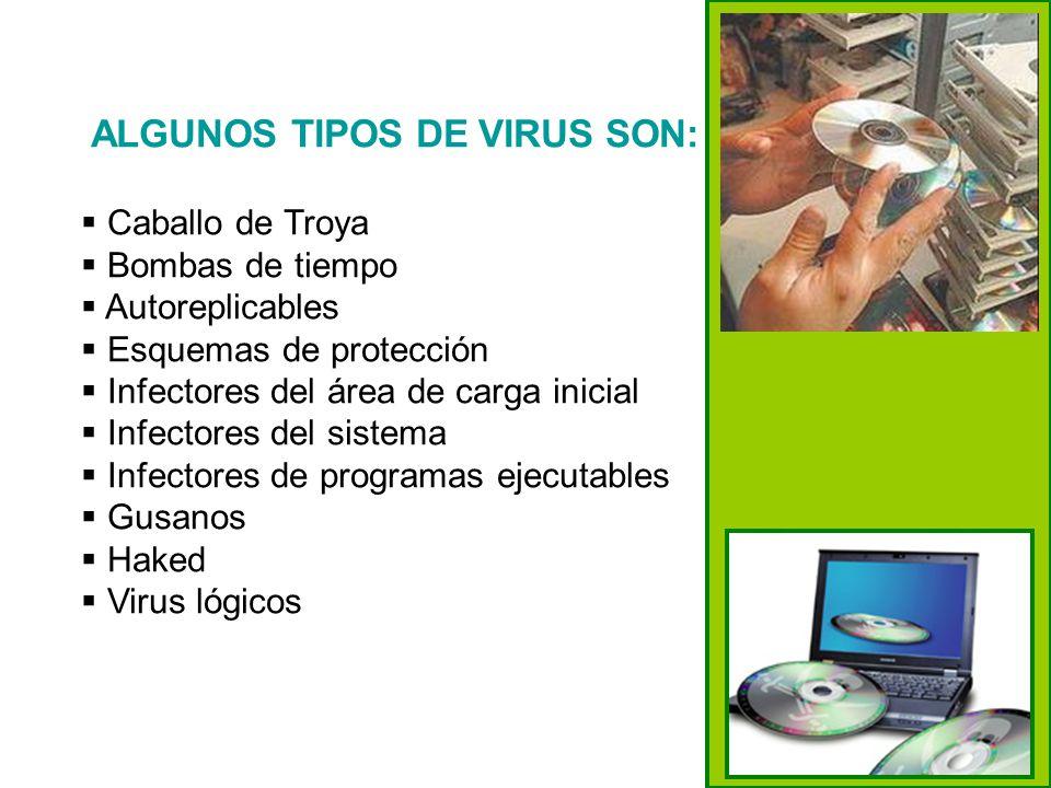 ALGUNOS TIPOS DE VIRUS SON:
