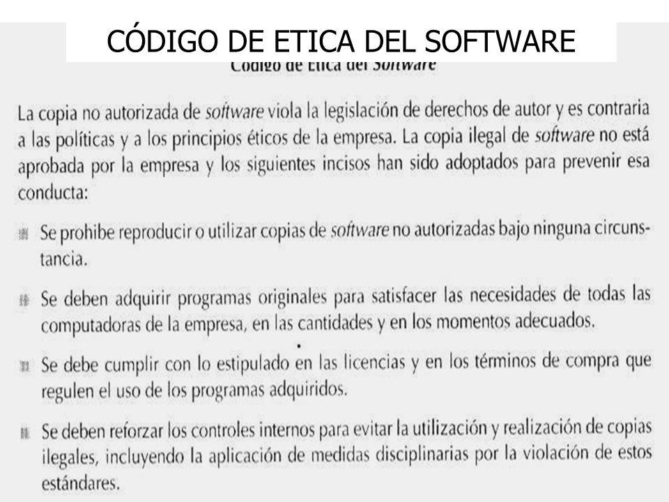 CÓDIGO DE ETICA DEL SOFTWARE