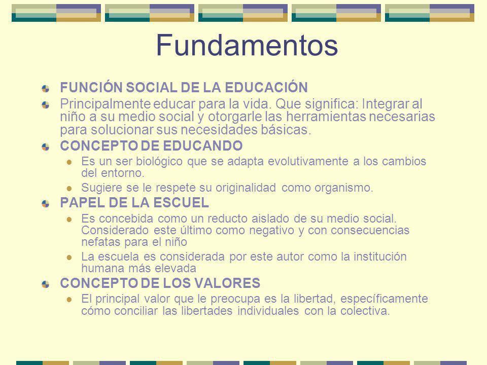 Fundamentos FUNCIÓN SOCIAL DE LA EDUCACIÓN
