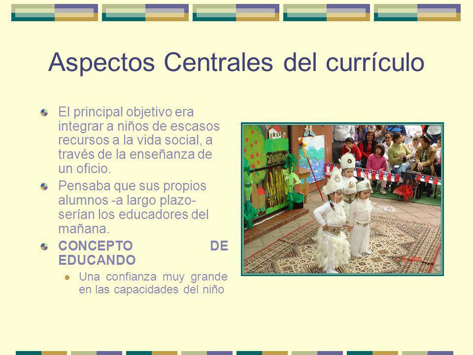 Aspectos Centrales del currículo