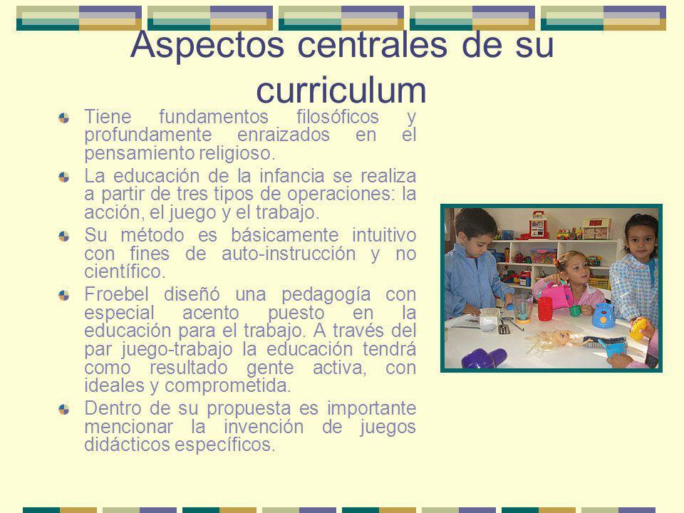 Aspectos centrales de su curriculum