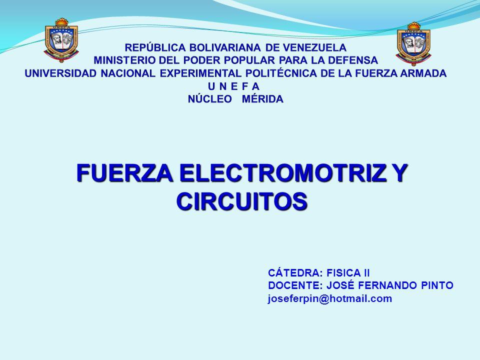 FUERZA ELECTROMOTRIZ Y CIRCUITOS