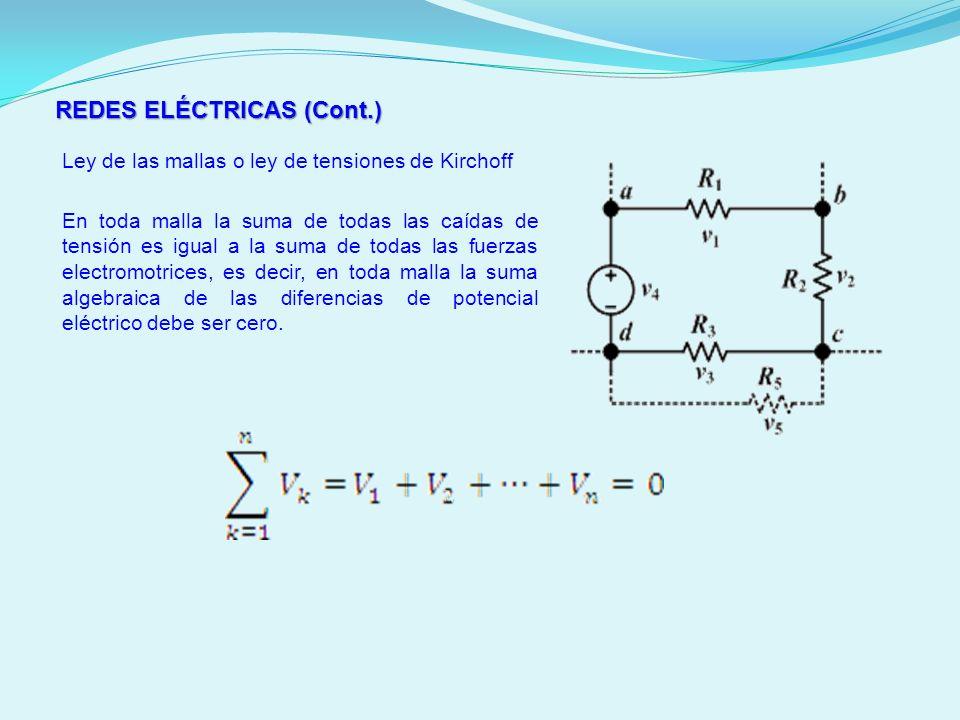 REDES ELÉCTRICAS (Cont.)