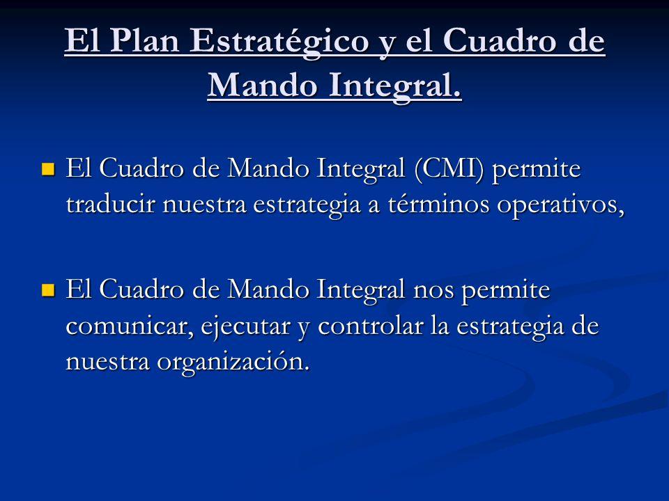 El Plan Estratégico y el Cuadro de Mando Integral.