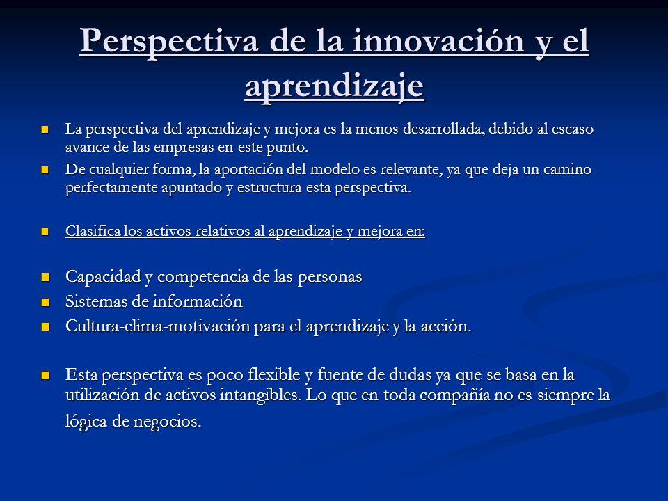 Perspectiva de la innovación y el aprendizaje